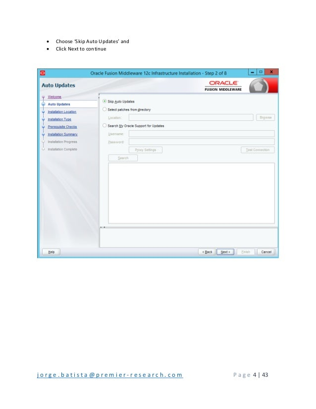 Step by step installation of oracle business intelligence