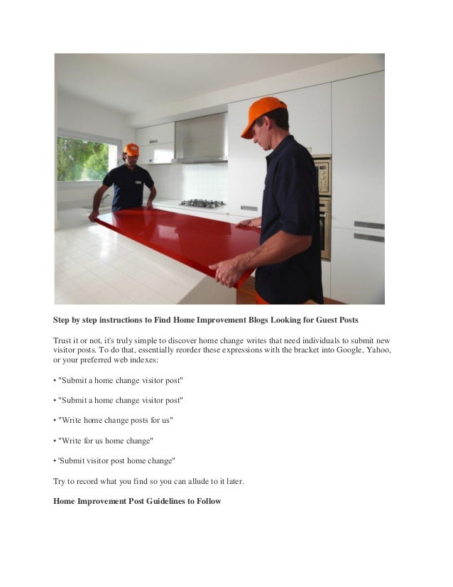 STEP BY STEP INSTRUCTIONS TO WRITE A HOME