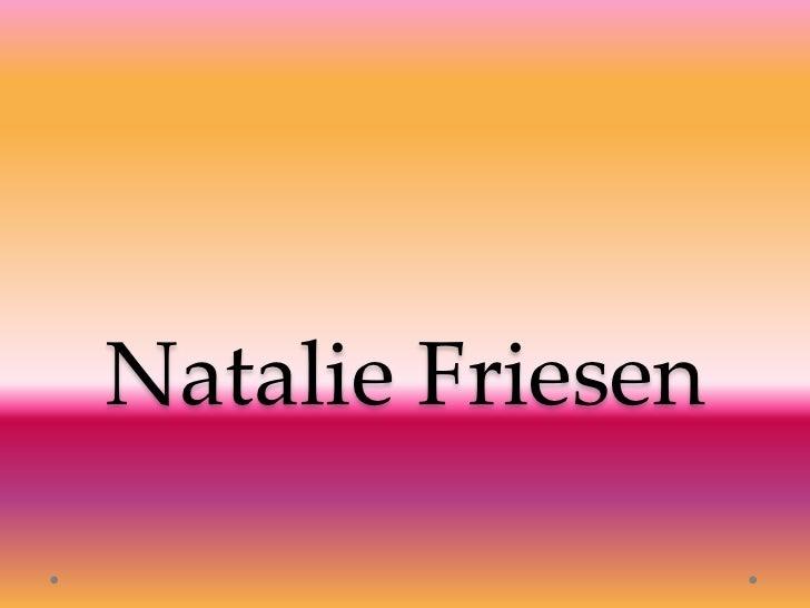Natalie Friesen