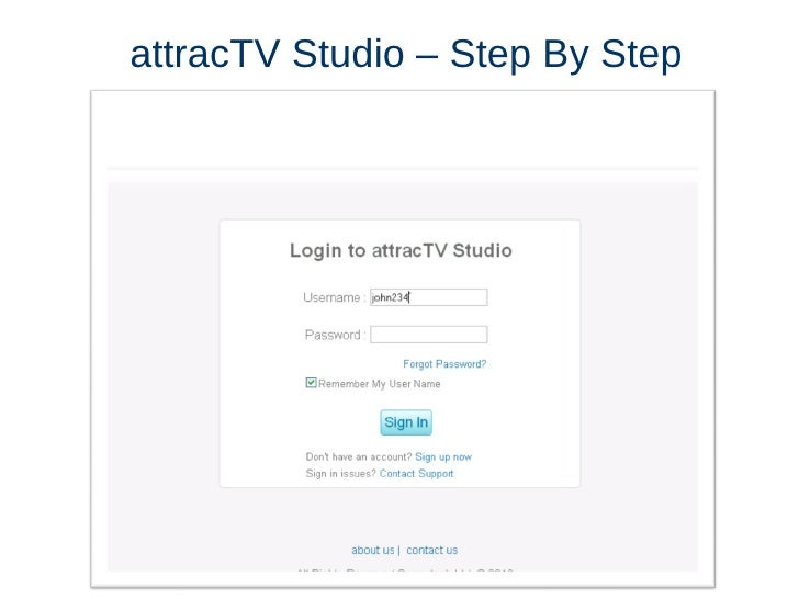 attracTV Studio – Step By Step