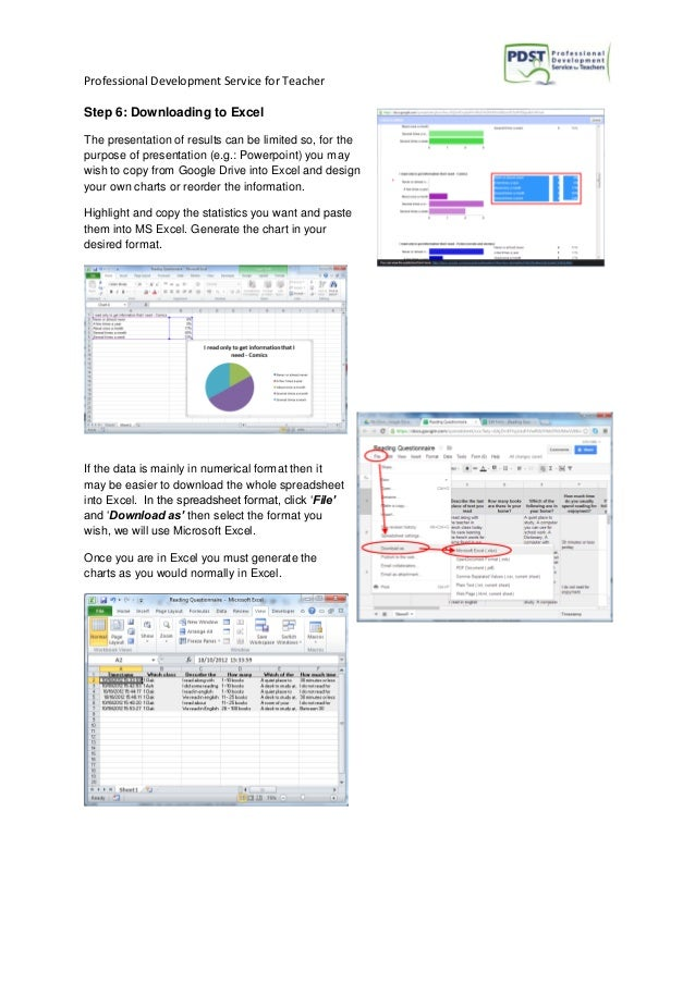 Professional Development Service for Teacher Step 6: Downloading to Excel The presentation of results can be limited so, f...