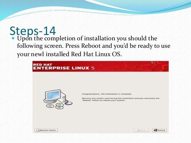 Step for installing linux server