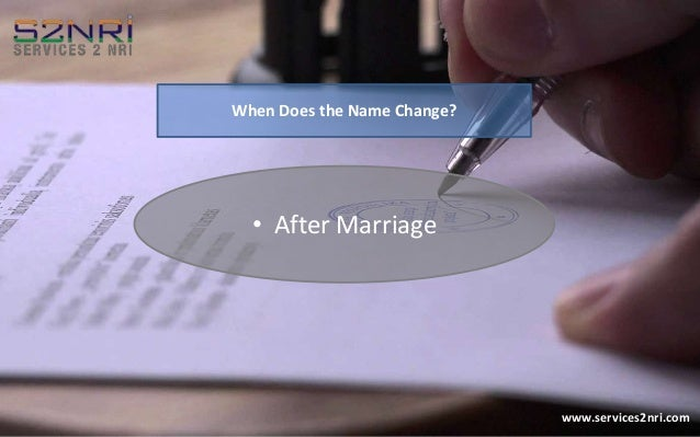 how to change name on passport canada after marriage