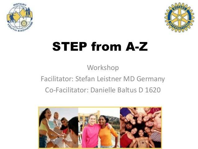 STEP from A-Z Workshop Facilitator: Stefan Leistner MD Germany Co-Facilitator: Danielle Baltus D 1620