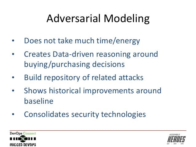 Adversarial Modeling • Does not take much time/energy • Creates Data-driven reasoning around buying/purchasing decisions •...