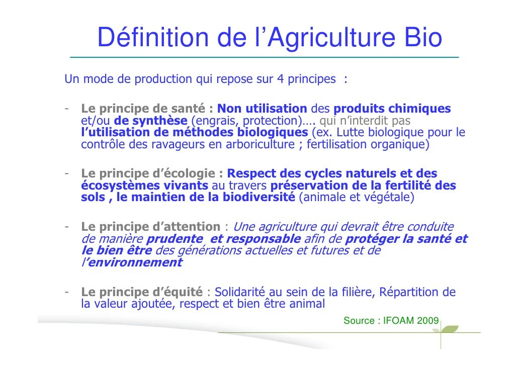 Stephane bellon interrelations entre agriculture biologue et enviro - C est quoi la definition ...