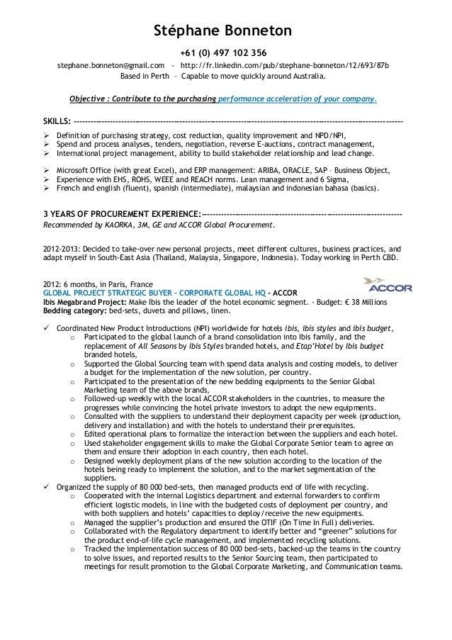 Resume For Buyer  Buyer Resume