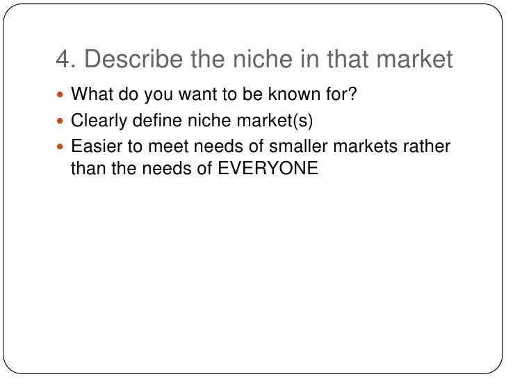 how to use niche in a sentence