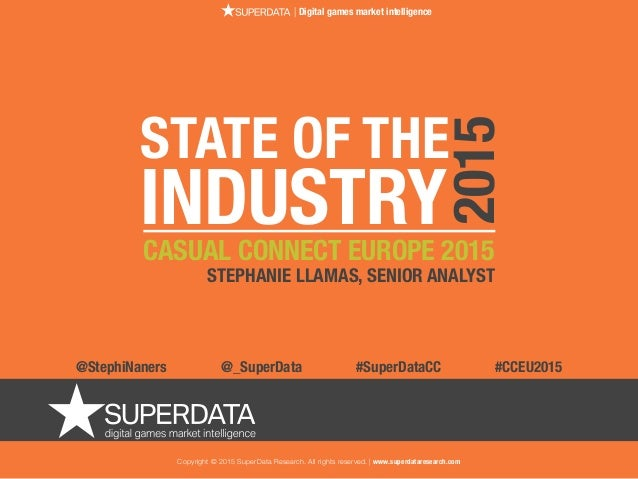 Copyright © 2015 SuperData Research. All rights reserved. | www.superdataresearch.com | Digital games market intelligence ...