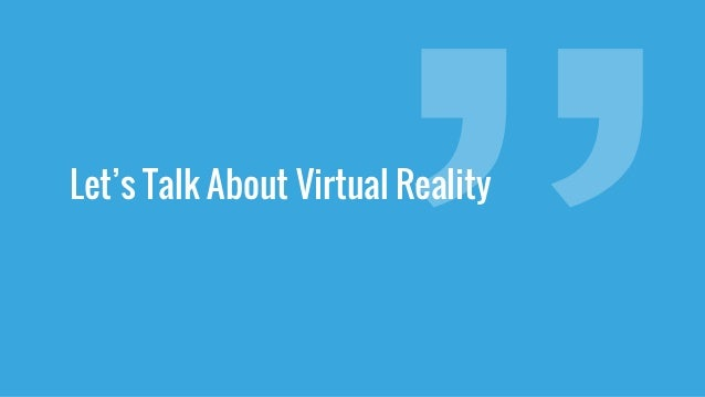 Stephan Tanguay - Virtual Intent - User Experience Design In VR / AR Slide 2