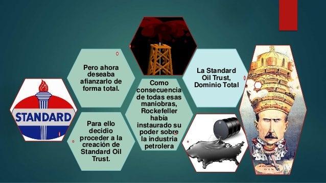 Para ello decidio proceder a la creación de Standard Oil Trust. Como consecuencia de todas esas maniobras, Rockefeller hab...