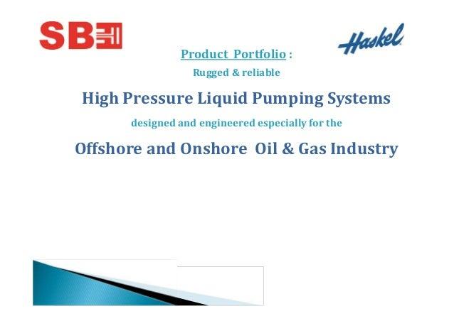 Stephen Balaram Engineering Pvt Ltd., Ahmedabad, Haskel Pump Slide 2