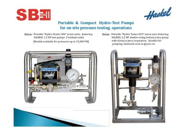 Stephen Balaram Engineering Pvt Ltd., Ahmedabad, Haskel Pump Slide 3