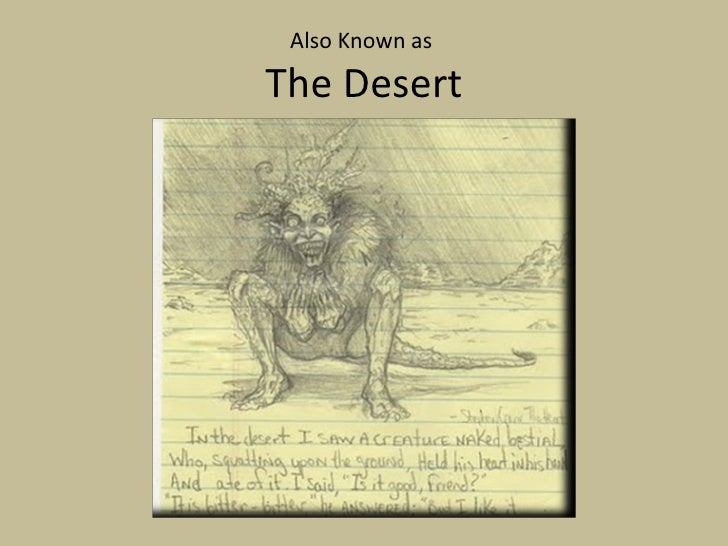 Image result for in the desert stephen crane