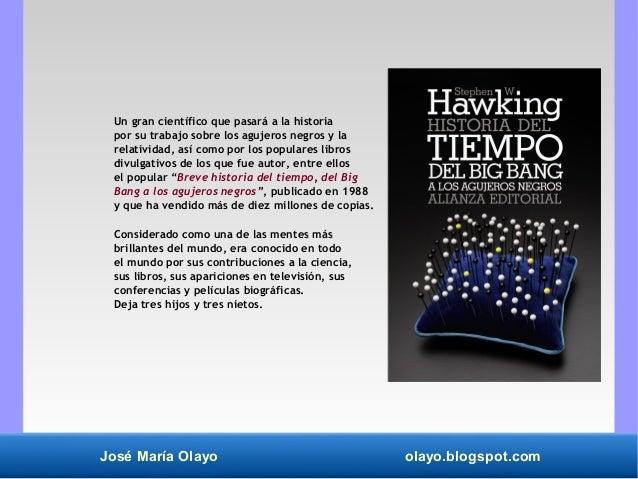 historia del tiempo del big bang a los agujeros negros booket ciencia
