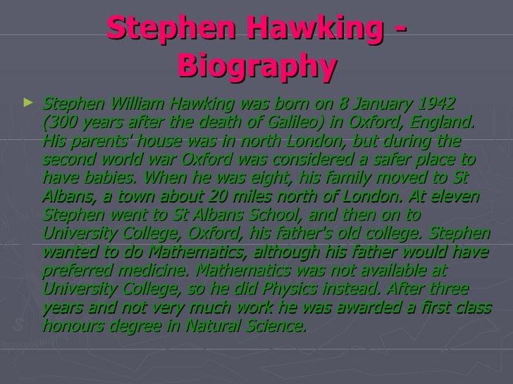 Stephen hawking (ppt) powerpoint presentation stephen hawking.