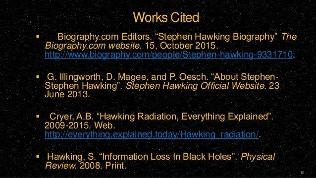 Ppt stephen hawking powerpoint presentation id:2608844.