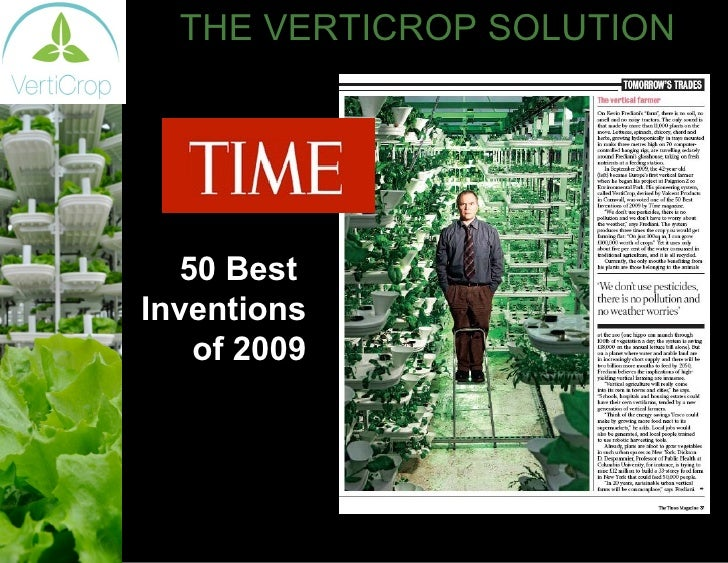 THE VERTICROP SOLUTION 50 Best  Inventions  of 2009