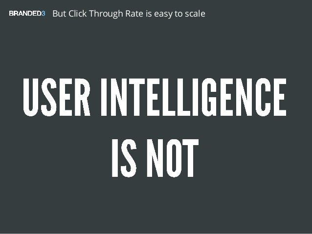 But Click Through Rate is easy to scale