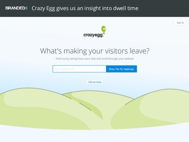 Crazy Egg gives us an insight into dwell time