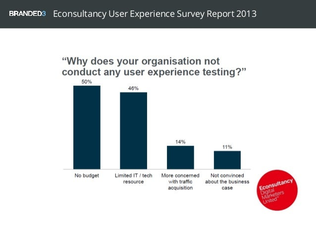 Econsultancy User Experience Survey Report 2013