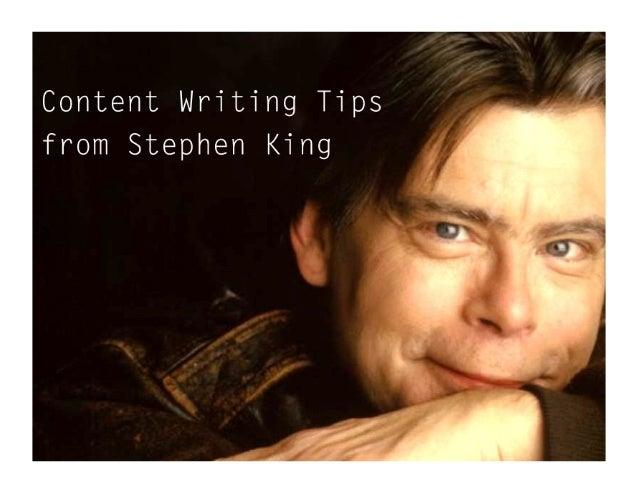 Script writing advice stephen