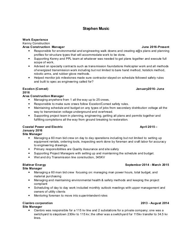 stephen music resume seeking new opportunities