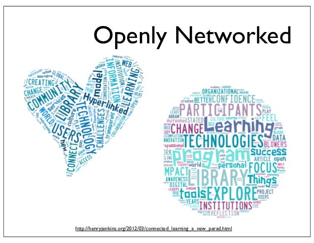 Openly Networkedhttp://henryjenkins.org/2012/03/connected_learning_a_new_parad.html