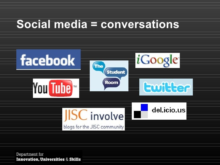 Social media = conversations