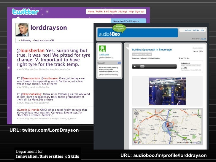 URL: twitter.com/LordDrayson URL: audioboo.fm/profile/lorddrayson