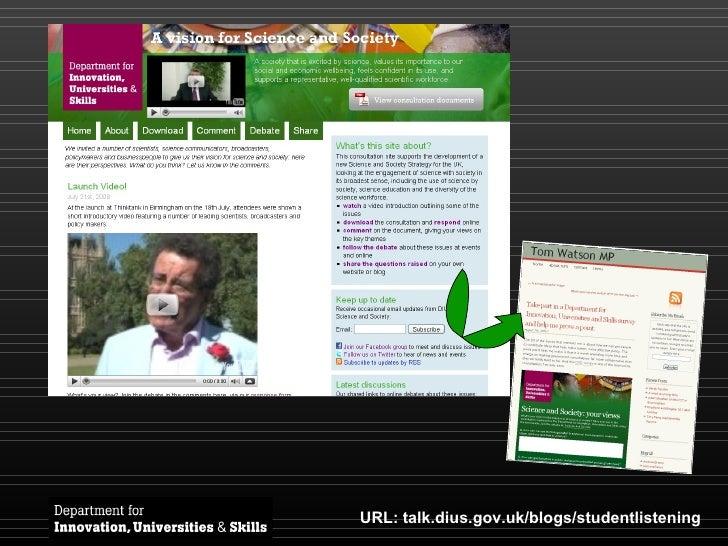 URL: talk.dius.gov.uk/blogs/studentlistening