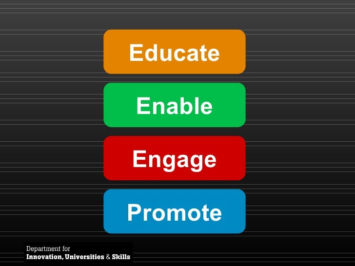 Educate Enable Engage Promote