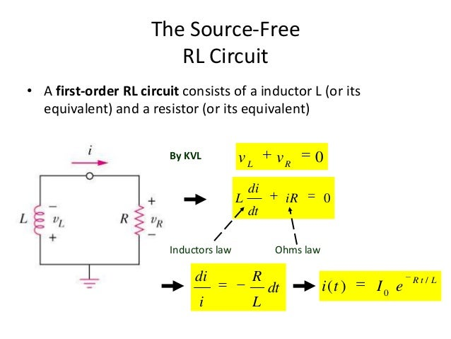 Differential Equations Kvl Ohm S Law Rc Circuits Rc Time Constant