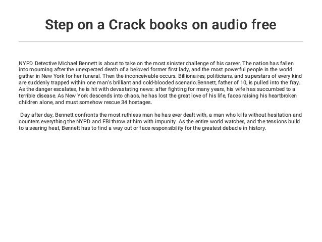 Step on a Crack books on audio free