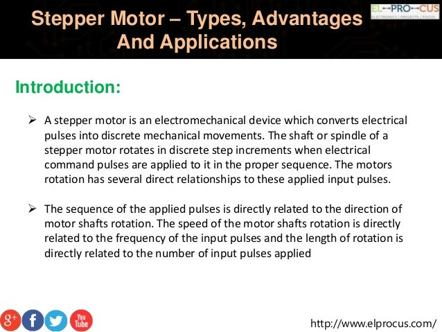 Stepper Motor – Types, Advantages And Applications; 2. ...