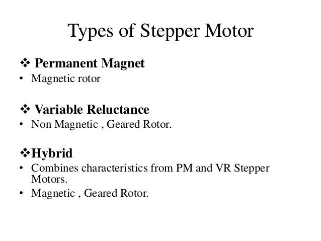 Stepper motor control for Types of motor controllers