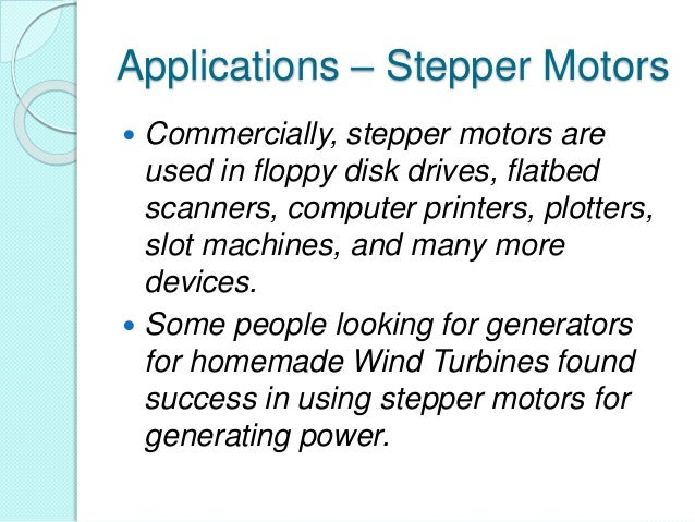 Applications – Stepper Motors ...