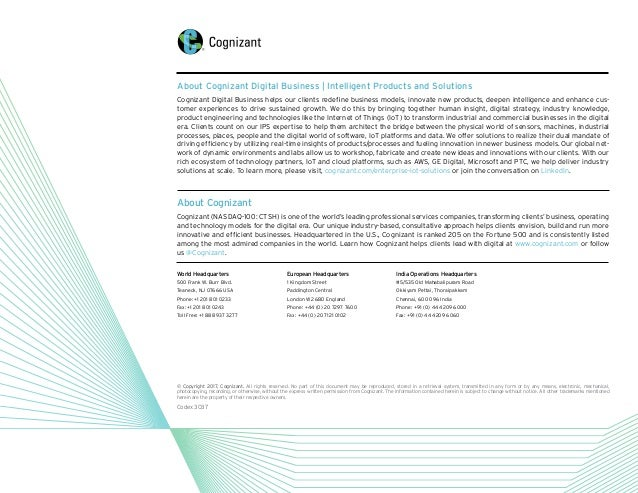 About Cognizant Cognizant (NASDAQ-100: CTSH) is one of the world's leading professional services companies, transforming c...