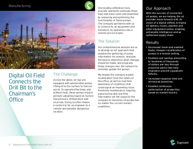 5 Stepping into the Digital Future with IoT The Challenge Across the globe, oil rigs are equipped with submersible pumps l...