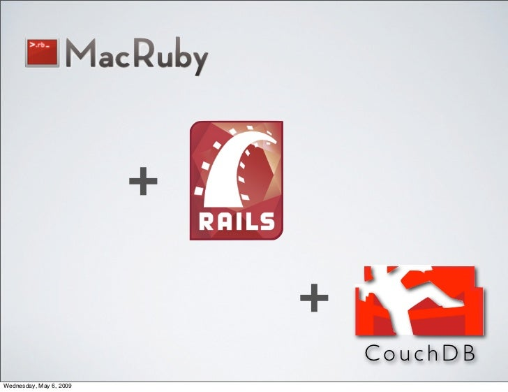 +                               +                                  CouchDB Wednesday, May 6, 2009