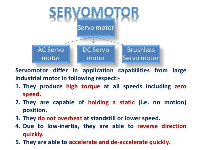 Difference between dc servo and stepper motor for Dc servo motor working principle pdf