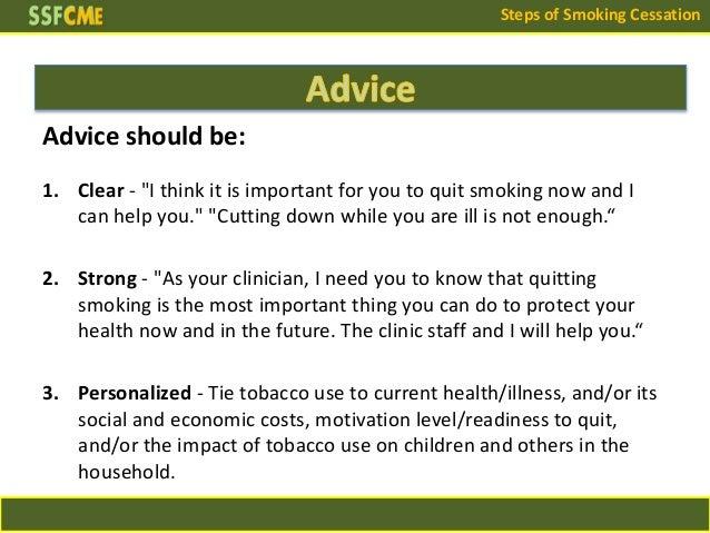 Advice For Smoking