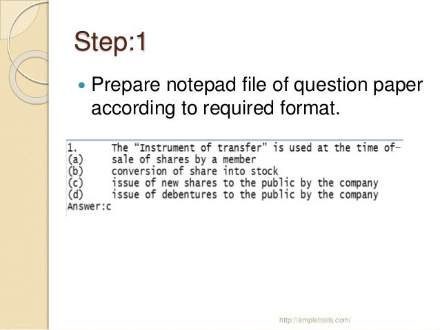 Steps to create online exam in moodle ampletrails com