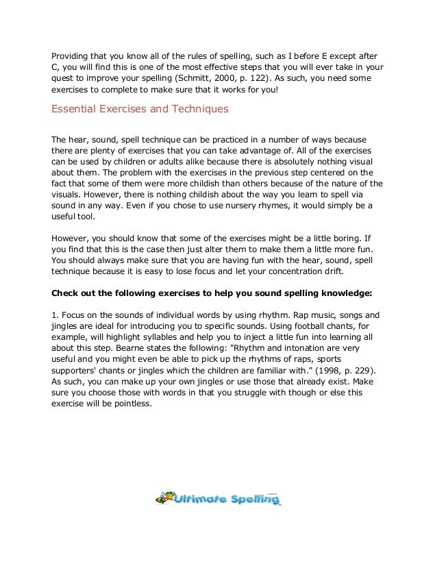 how to improve spelling skills pdf