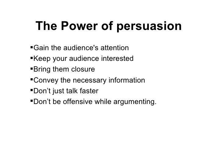 <ul><li>Gain the audience's attention </li></ul><ul><li>Keep your audience interested </li></ul><ul><li>Bring them closure...