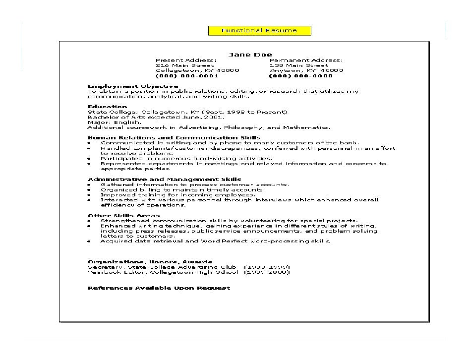 Irrelevant Work History On Resume