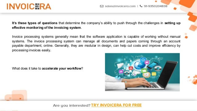3. TRY INVOICERA FOR FREE ...  Free Online Invoice System