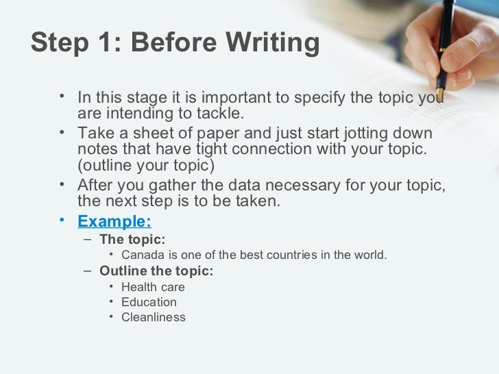 Essay step by step