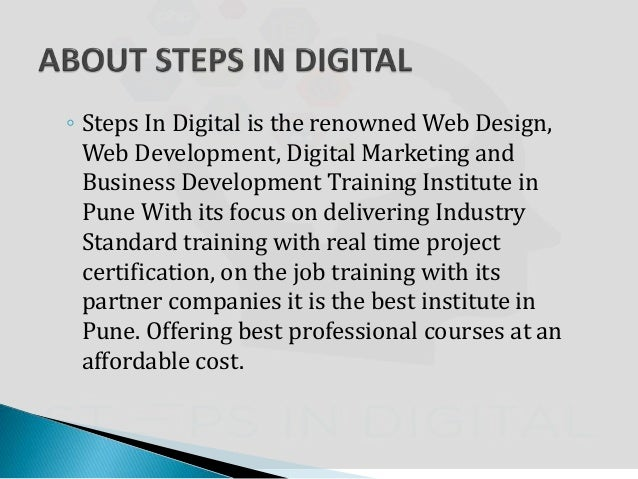 Steps in digital the golden step towards your bright career for Architecture firms for internship in pune