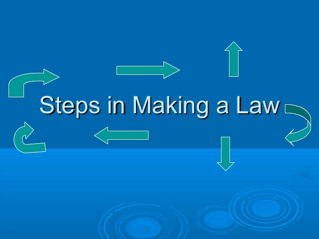 Steps in Making a LawSteps in Making a Law